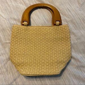 VINTAGE TALBOTS woven purse